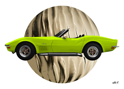 Chevrolet Corvette C3 in light green colors