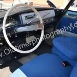 Citroen ID 19 Interieur mit plüschigem, blauem Stoffmuster