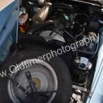 Citroen ID 19 Motorraum mit Ersatzrad und Wagenheber