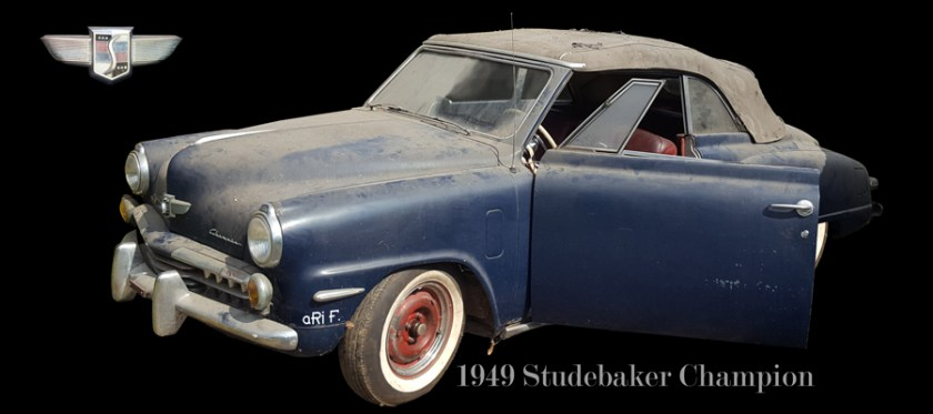 1948 Studebaker Champion Convertible barns find Poster
