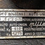 Fissore Millespecial Chassis number - Engine number