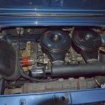 NSU TT Motorraum mit 1200 ccm Erstzulassung 08.1973, noch alles im Urzustand bzw. unverbastelt