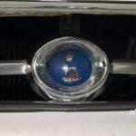 Sunbeam-Logo auf der Querstrebe in mitten des Kühlergrill