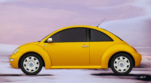 New Beetle in yellow & pink
