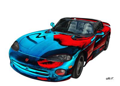 Dodge Viper RT/10 Art Car Poster