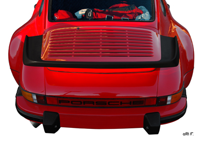 Porsche 911 G-Modell Poster in Orignalfarbe rear view