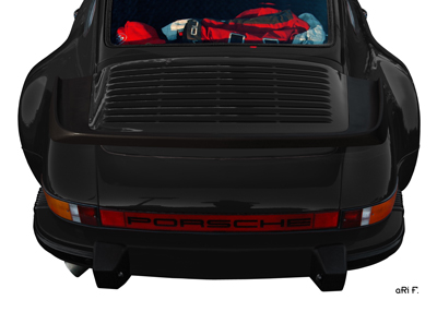 Porsche 911 G-Modell Poster in black rear view