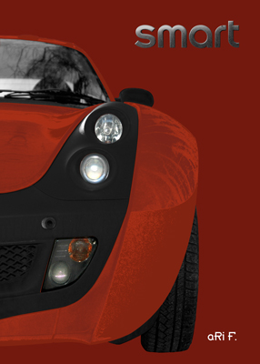 smart Roadster Poster in copper & brown