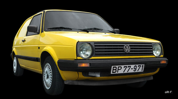VW Post-Golf 2 Poster in Originalfarbe