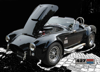 AC Cobra 427 Poster in black pure