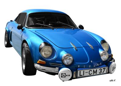 Alpine A110 Poster in Originalfarbe