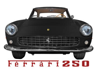 Ferrari 250 GT Coupé Poster in black
