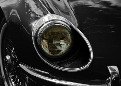 Jaguar E-Type Serie 3 Roadster Scheinwerfer Poster
