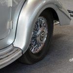Mercedes-Benz 540 K Spezial Roadster mit verchromten ierleisten auf dem Einstiegsblech, Speichenfelgen und Stoßfänger