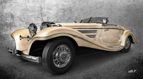 Mercedes-Benz 540 K Spezial Roadster Poster in antique chamois