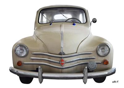 Renault 4CV Poster in Orignalfarbe