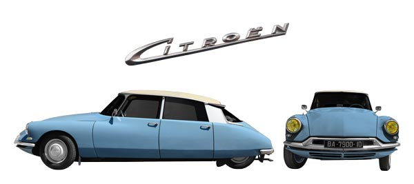 Citroen ID 19 Poster double view in original color