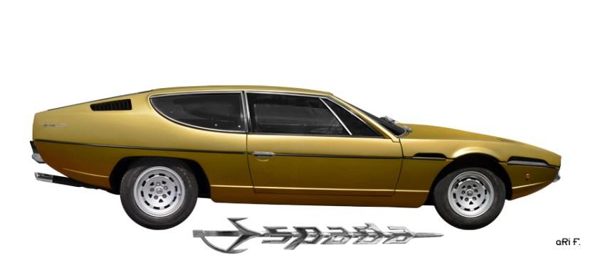 Lamborghini Espada Poster in Originalfarbe