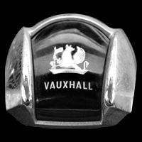 Logo VAUXHALL four ninety auf Lenkrad (1961-1964)