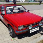 Opel Kadett C Aero in roter Farbe