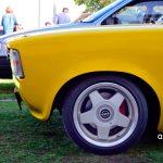 Opel Kadett C Coupé Detailansicht vorn mit Original Opel-Felgen