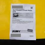 Opel Kadett C GT/E Rallye Coupe technische Daten