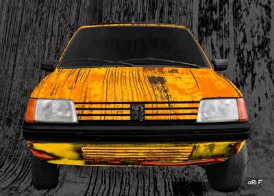 Peugeot 205 Art Car Poster by Ohmyprints.com