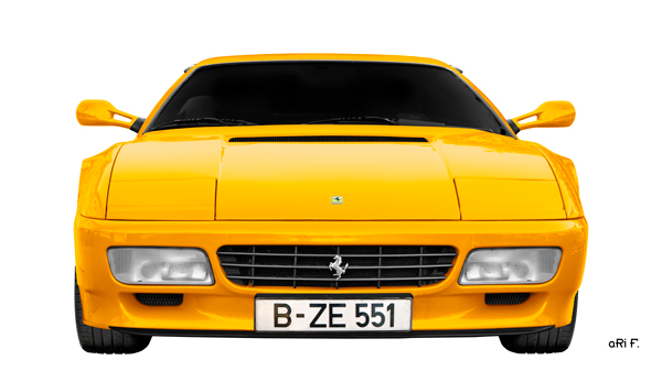 Ferrari Testarossa Poster in yellow