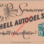 Shell Autooel 3X Werbung 1947