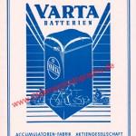VARTA Batterien Werbung von 1952