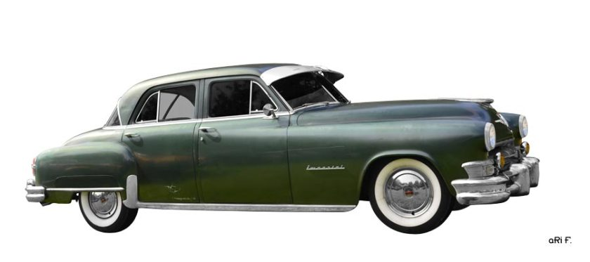 1952 Chrysler Imperial Poster in Originalfarbe