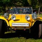 VW Buggy in gelb beim Oldtimertreffen am Bodensee