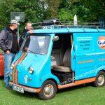 Goggomobil 400 in GULF-Farben lackiert