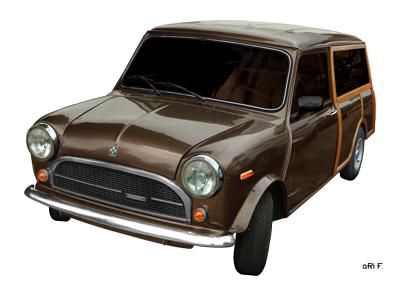 Innocenti Mini Clubman Woody Poster by aRi F.
