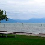 Strandbad Kressbronn am Bodensee und kein Regen, aber ziemlich viel eiskalter Wind