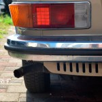 VW 411 Detailansicht auf Blinker hinten mit weißem Rückfahrlicht