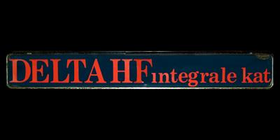 Logo Lancia DELTA HF integrale kat