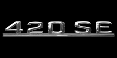 Logo Mercedes-Benz W 126 420 SE