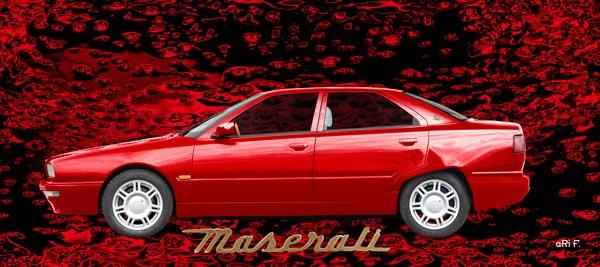 Maserati Quattroporte IV Poster in red