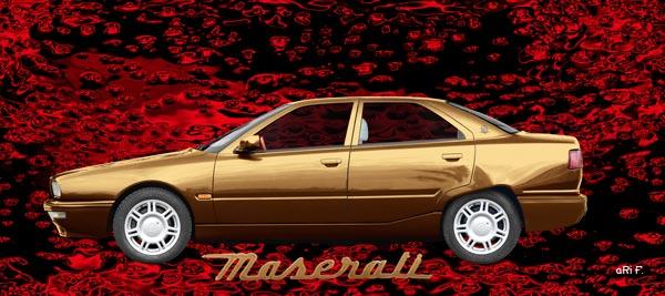 Maserati Quattroporte IV Poster in copper