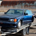 Mercedes-Benz C126 500 SEC AMG V8 Wide-Body fertig zum Abtransport
