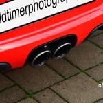Porsche Boxster Spyder Typ 987 Doppelauspuff mittig angeordnet