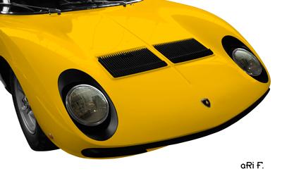 Lamborghini Miura Poster in original yellow