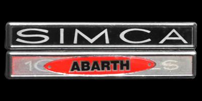 Logo Simca Abarth auf Simca 1150 SS