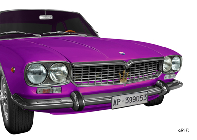 Maserati Mexico Poster in pink