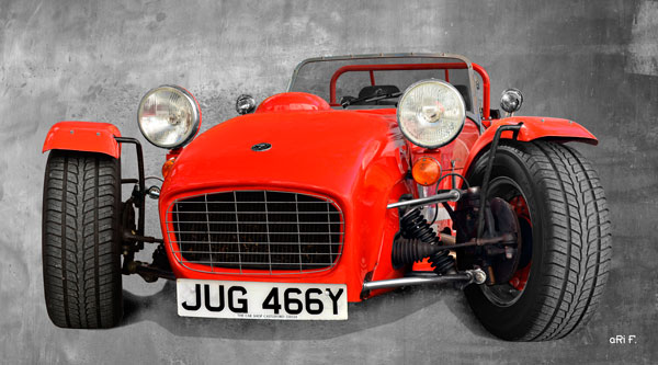 Caterham Seven Sprint Poster in red