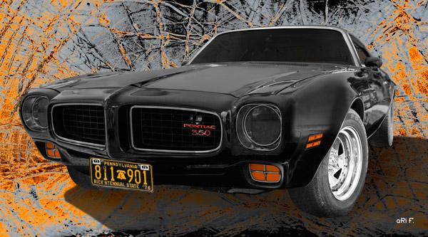 Pontiac Firebird 350 in black Poster by aRi F.