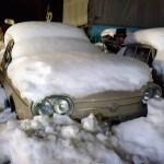 VW 411 im Winter