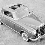 Platz für vier Personen: Mercedes-Benz 220 SE Coupé (Baureihen W 180/W 128, 1956 bis 1960). Room for four: Mercedes-Benz 220 SE coupe (W 180/W 128 series, 1956 - 1960).