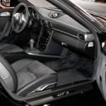Porsche 911 GT3 3.8 Interieur in Volleder schwarz Sportsitze vorn, Mittelfläche Alcantara und Dachhimmel Alcantara